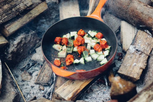 Woodcarver outdoor cooking